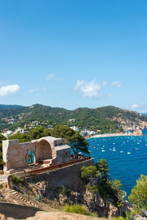 View of Tossa de Mar village from ancient castle. Costa Brava. Spain