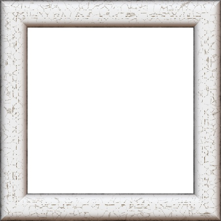 Square High Quality High Resolution Wooden Frame Painted In White ...