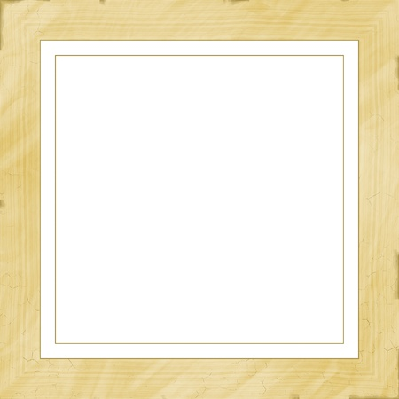 square high quality high resolution plain wooden frame stock photo