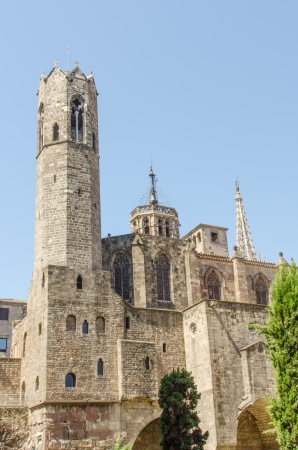 gotico: Catedral vieja en Madrid, Espa�a