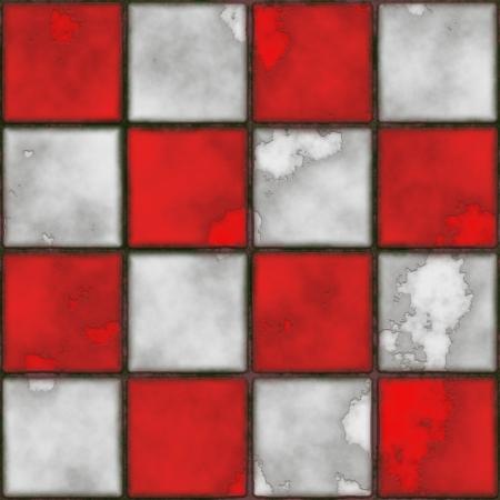 checker board: Checker bordo de fondo sin fisuras de baldosas de estilo grunge