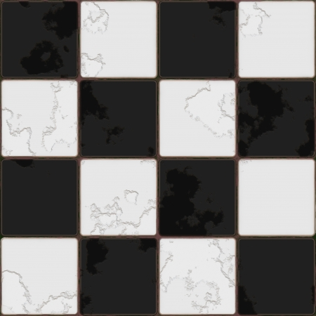 Black And White tile seamless background in grunge style Stock Photo - 17958822