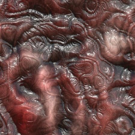 diarrhea: Seamless rendered illustration of internal tissue