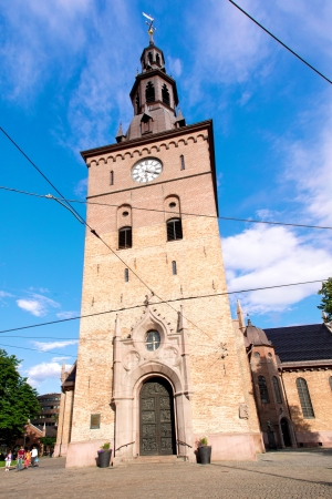 OSLO - AUGUST 4: Oslo Cathedral (Oslo domkirke) — formerly Our Saviors Church (Vår Frelsers kirke) is the main church for the Oslo bishopric of the Church of Norway, pictured on August 4, 2012. The present building dates from 1694-1697.