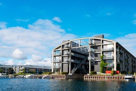 Modern flat building at Copenhagen Denmark