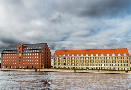Traditional buildings at Copenhagen Denmark photo