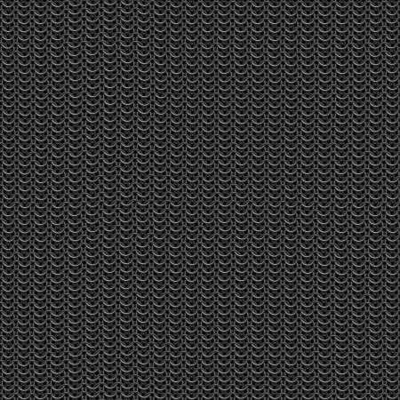 medieval blacksmith: Seamless computer generated metal chain mail texture Stock Photo