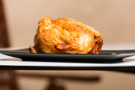 roasted chicken: Roasted chicken on plate