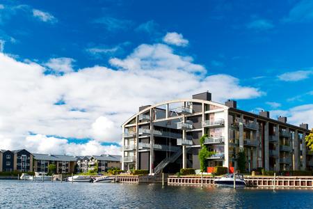 Modern apartment building at Copenhagen Denmark