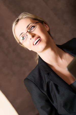 Portrait of business woman in glasses photo