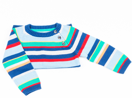 Kids striped sweater photo
