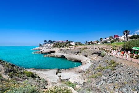 adeje: Rocky coast of Costa Adeje. Tenerife island, Canaries