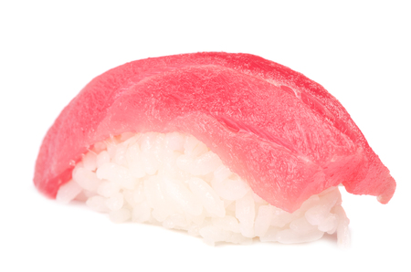 Sushi isolated in white background photo