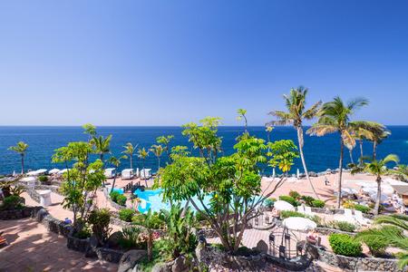 adeje: View on resort at Tenerife Island, Spain