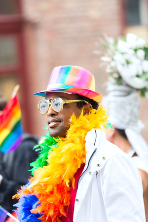 sexual orientation: OSLO, NORWAY - JUNE 28: Europride parade in Oslo on June 28, 2014. The Parade is 3 km long.