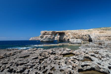 Azure Window, natural arch on Gozo island, Malta photo