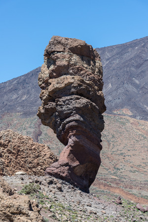 garcia: Roques de Garcia, with volcano in the background, in Teide National Park, Tenerife, Canary Islands, Spain