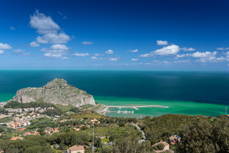 View at Cefalu in Sicily,  the largest Italian island photo
