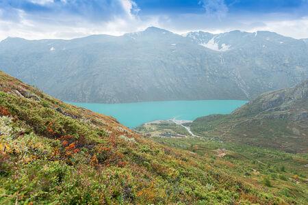 besseggen: View on camping site at Besseggen