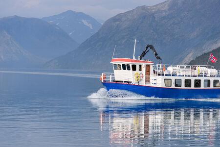 besseggen: Ferry at Lake Gjende, Besseggen, Jotunheimen park