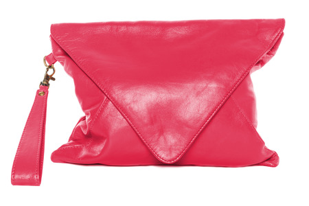 crimson colour: Crimson colour woman bag isolated on white background
