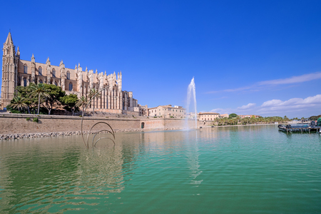 La Seu the cathedral of Palma de Mallorca, Spain. With copy space photo