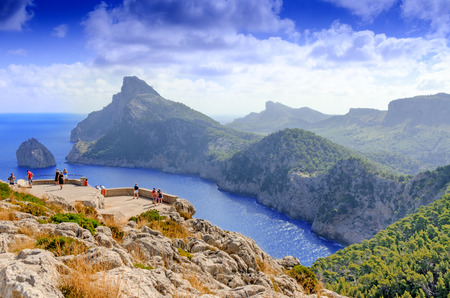 turism: Vacations at Spain: Mallorca landscape and view to Cape Formentor
