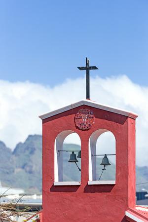 Details of church in Tenerife Island at el Teide volcano mountain