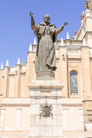 pontiff: Madrid, statue of Pope John Paul II Stock Photo