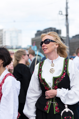 17: OSLO - MAY 17: Norwegian Constitution Day is the National Day of Norway and is an official national holiday observed on May 17 each year. Pictured on May 17, 2014 Editorial