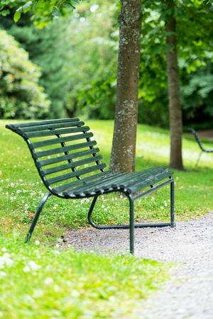 오슬로의 식물원에있는 벤치