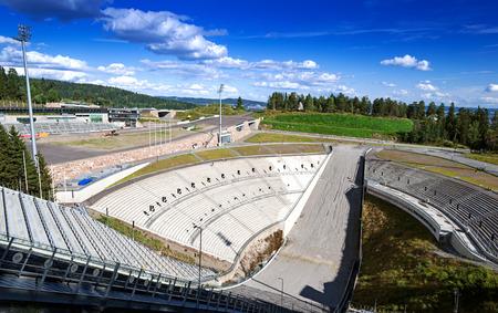 ski jump: Holmenkollen ski jump in Oslo, Norway, Scandinavia
