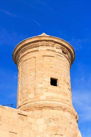 watchtower: Watchtower in Grand Harbour of Valletta, Malta