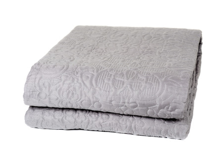 bedspread: Decorative blanket isolated on white background