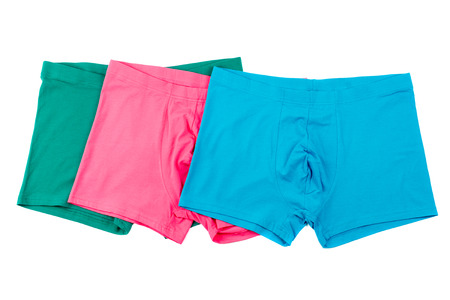 briefs: Colourful mens Boxer briefs isolated on a white background