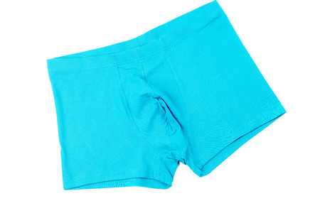 briefs: Blue mens Boxer briefs isolated on a white background