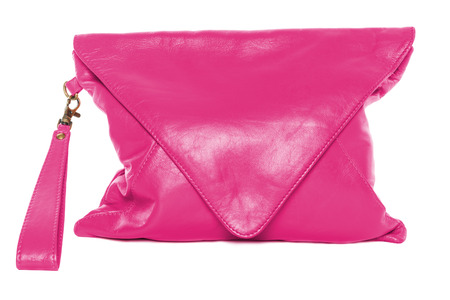 pale colour: Pale violet red colour woman bag isolated on white background