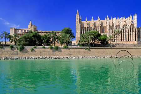 palma: Cathedral of Palma de Majorca Stock Photo