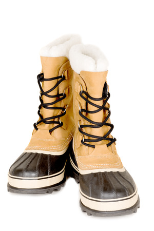 unisex: Unisex winter high boots isolated on white Stock Photo