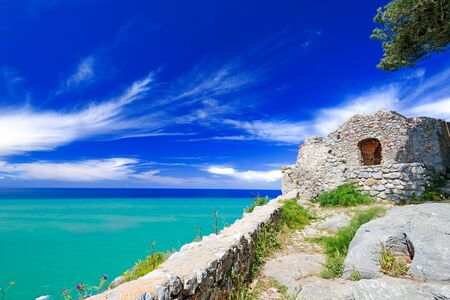 Old ruins at Cefalu, Sicily, Italy Stock Photo