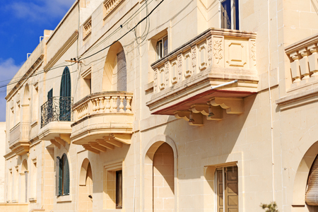 historical building: Balconies on historical building at Malta