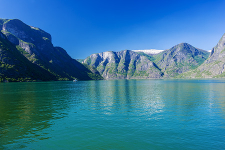 Fjord view on summer day