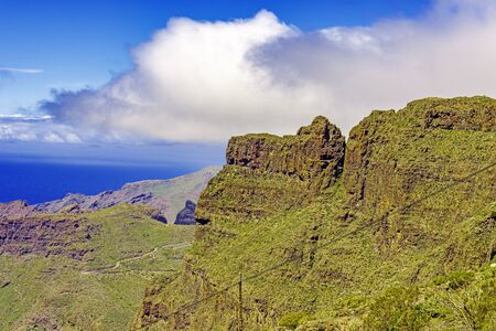 Masca Village and valley in Tenerife, Canary Islands, Spain