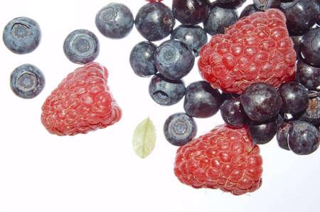 bilberries: bilberries and raspberries, summer fruits