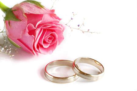 anillos boda: Los anillos de boda Foto de archivo