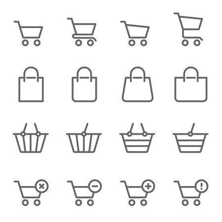 Shopping Vector Line Icon Set. Contains such Icons as Shopping Cart, Shopping Bag, Buy, Delete, Error and more. Expanded Stroke