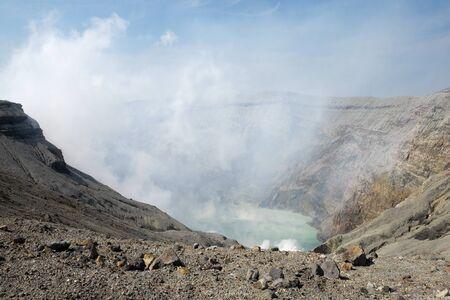 Landcape of aso volcano mountain at Kumamoto Kyushu, Japan.
