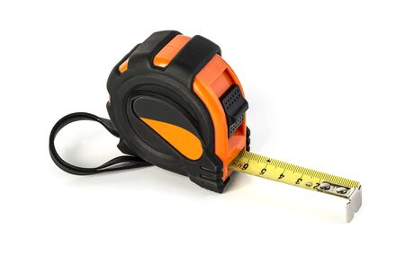 tape measure isolated on white background Stock Photo