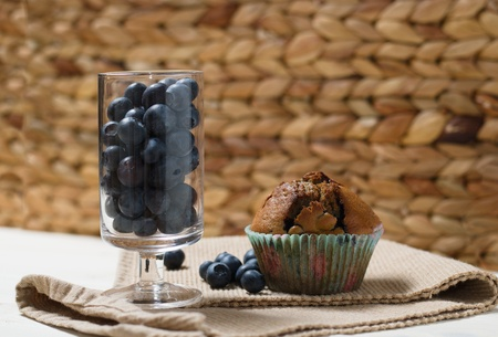 Homemade gluten free blueberry cupcake Stockfoto