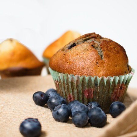 muffin with blueberries Stockfoto
